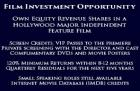 Feature Film  Investment Opportunity need for some Funder Investor Actor wannabe urgently